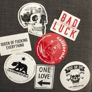 Lot of BM Computer Stickers